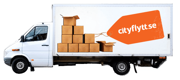 Flyttfirman Cityflytts lastbil